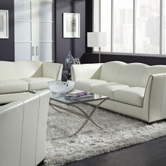 White Leather Chairs For Living Room Countertop Tables And Manlyn Set From Lazzaro Wh 1327