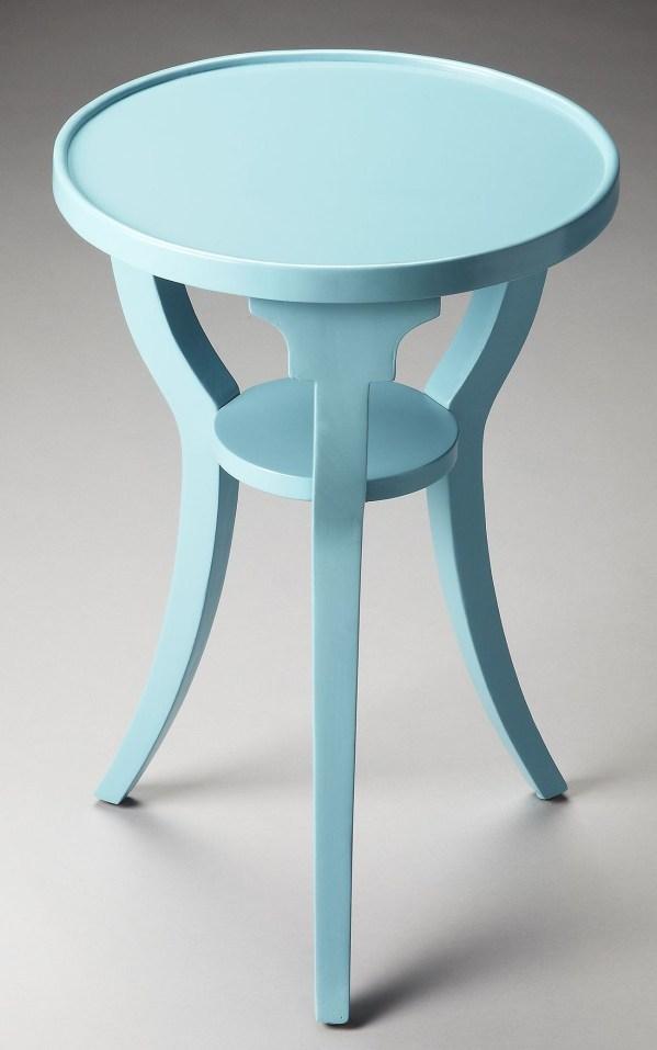 Masterpiece Dalton Sky Blue Accent Table Butler