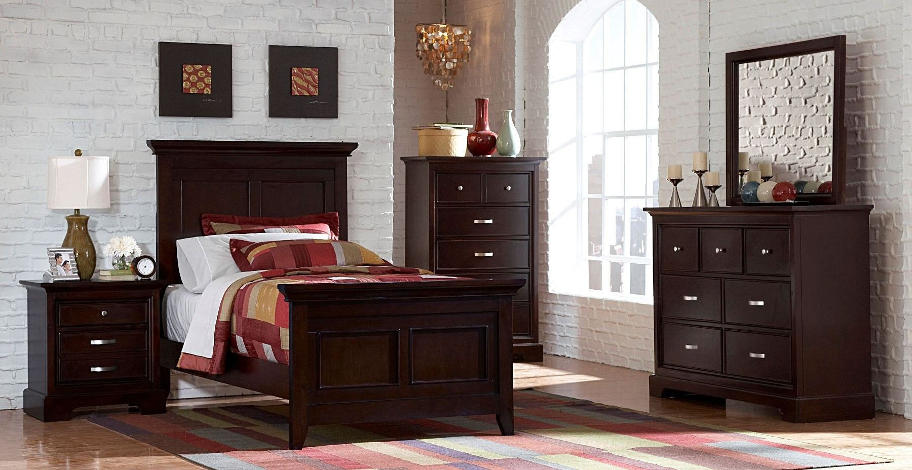 Glamour Youth Espresso Panel Bedroom Set From Homelegance