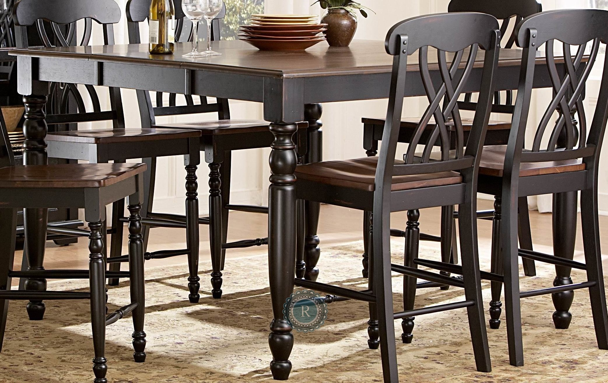 Ohana Black Counter Height Table From Homelegance (1393BK