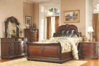 Palace Rich Brown Leather Sleigh Bedroom Set from ...
