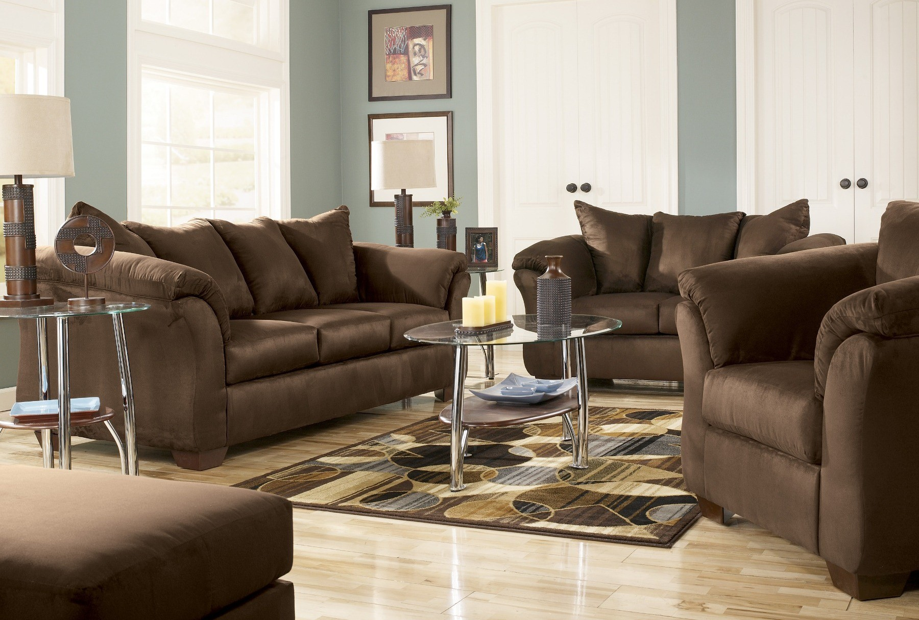 ashley darcy sleeper sofa review fabric cushions on leather cafe living room set from (75004) | coleman ...