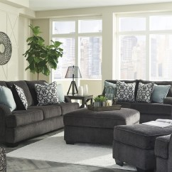 White Sectional Sleeper Sofa Lazy Boy Reclining Leather Charenton Charcoal Living Room Set From Ashley | Coleman ...