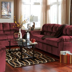 Ashley Furniture Modern Sofa Concept Review Julson Burgundy Living Room Set From (26602-38-35 ...