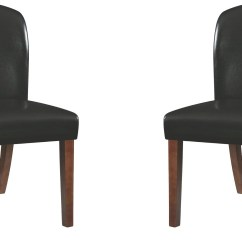 Black Side Chair Accent Louise Upholstered Set Of 2 From Coaster