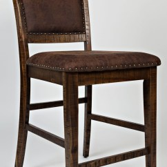 Upholstered Counter Chairs Rosewood Modern Cannon Valley Back Stool Set Of 2 From