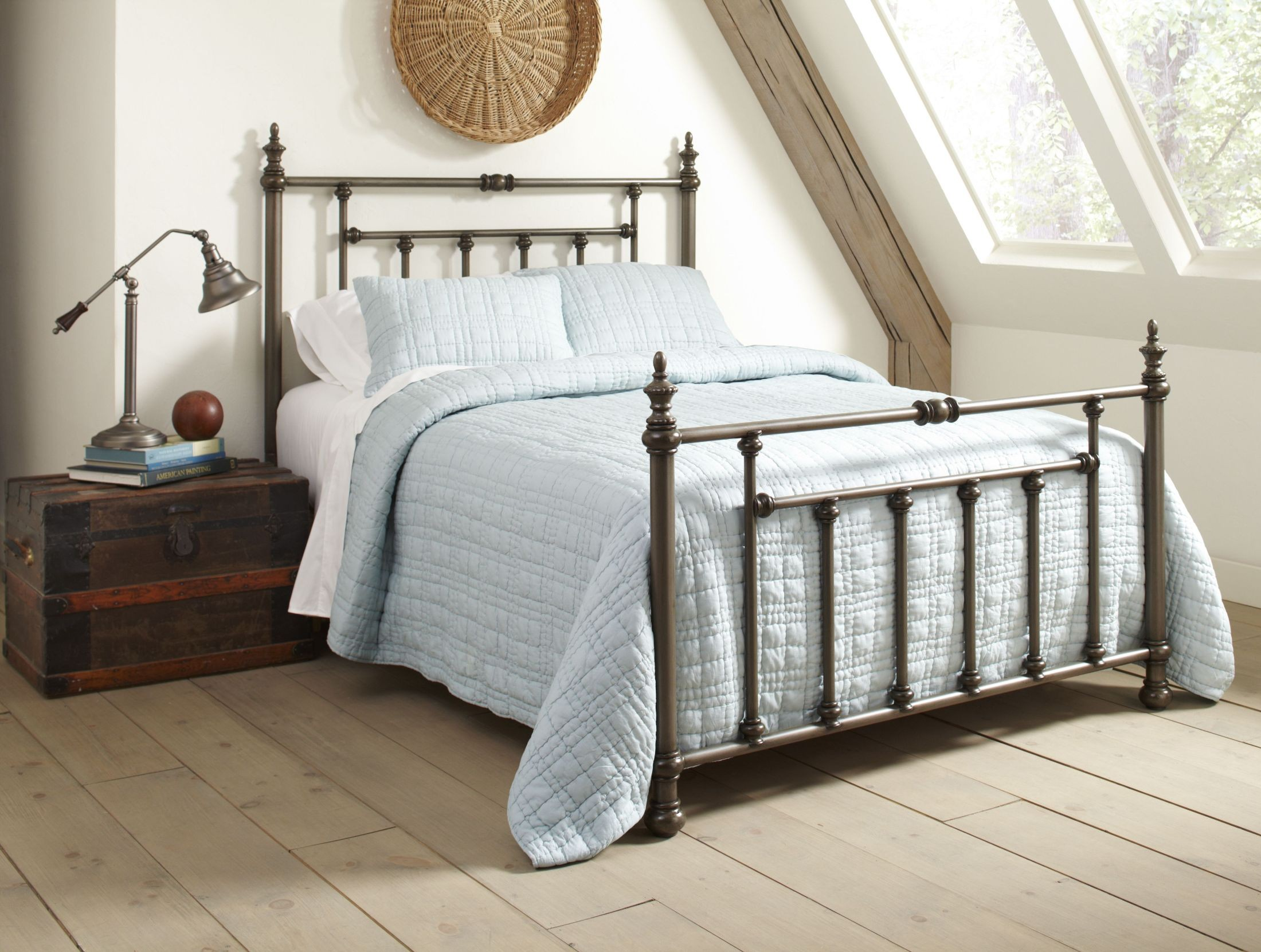 Gloria Brushed Silver Queen Headboard And Footboard From