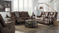 Burgett Espresso Reclining Power Reclining Living Room Set ...