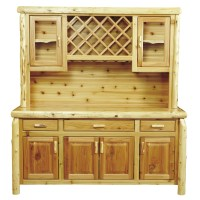 "Cedar 75"" Buffet With Hutch With Wine Rack from Fireside ..."