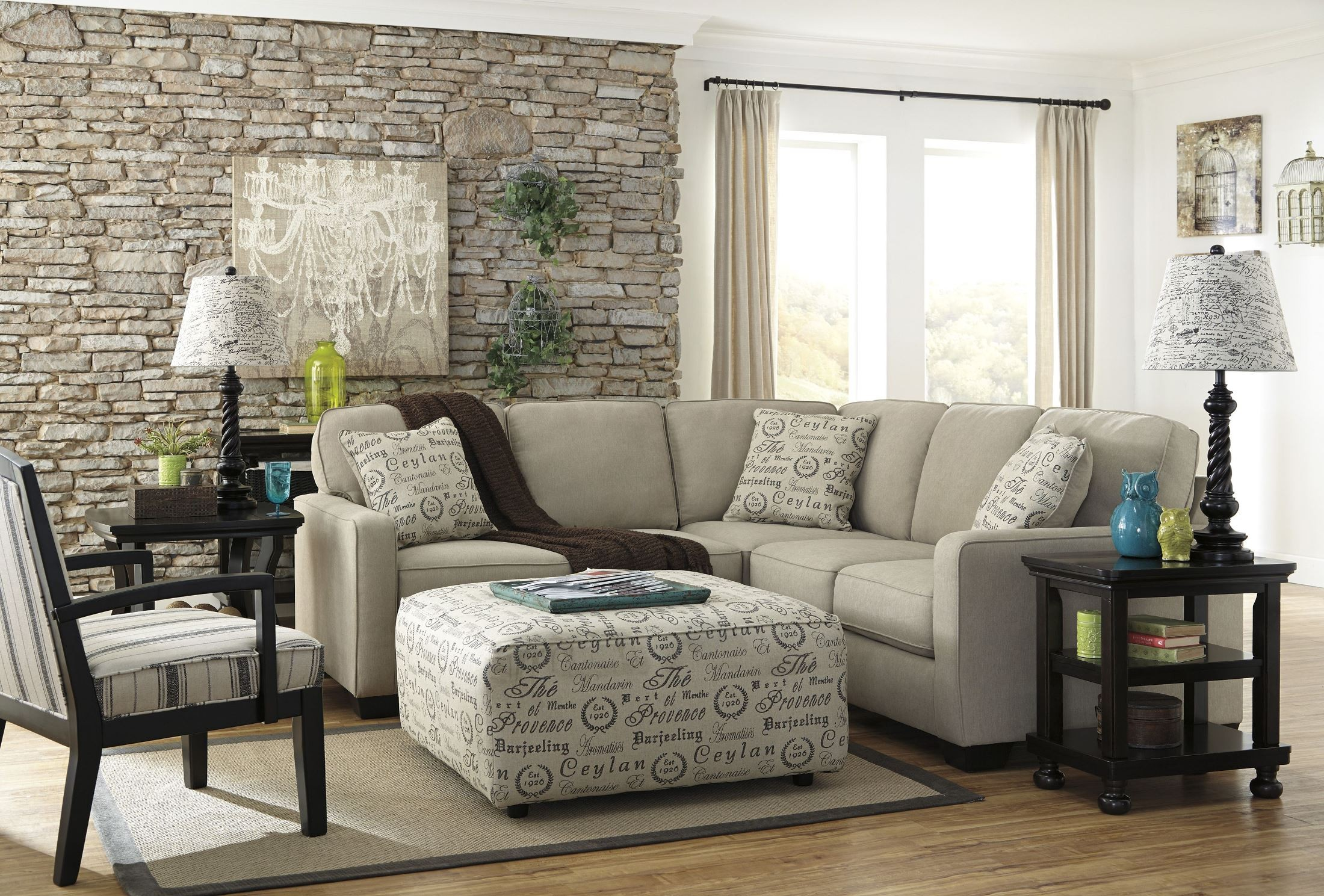 ashley alenya quartz sofa reviews pull out mattress laf sectional from coleman furniture