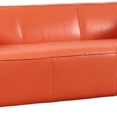 Tangerine Sofa Chocolate Leather Decorating Ideas Hayden Top Grain From Lazzaro