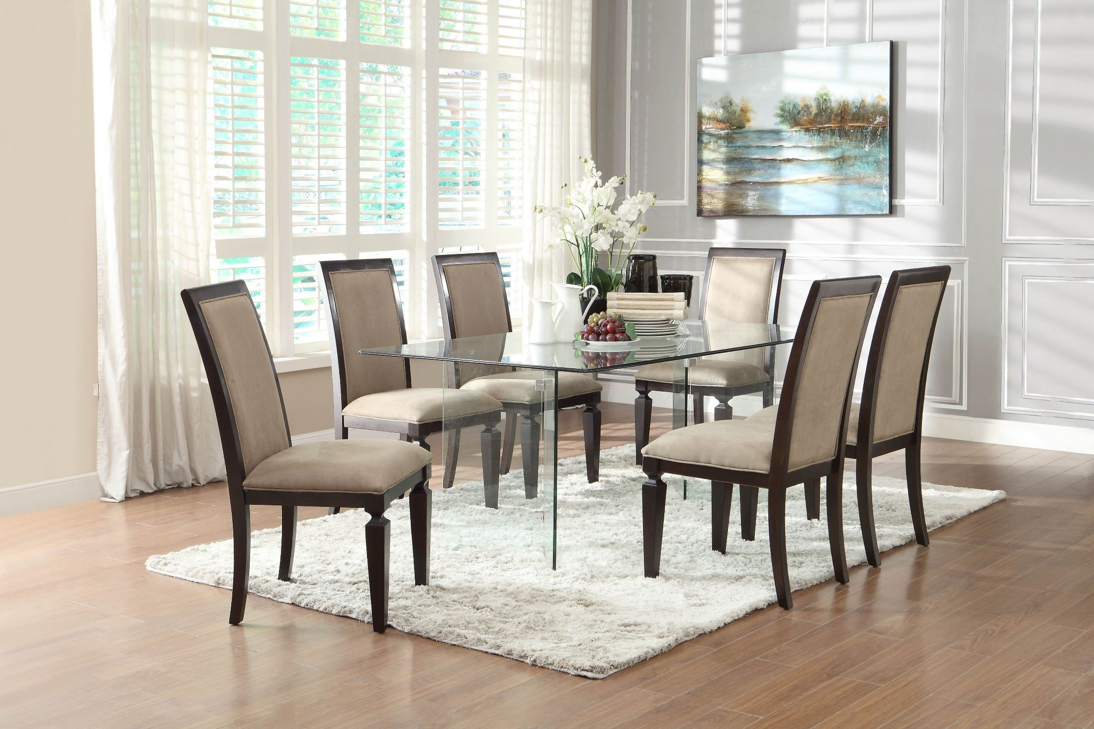 Alouette Rectangular Glass Dining Table from Homelegance 17813  Coleman Furniture
