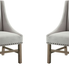 Fabric Side Chairs Antique Folding Rocking Chair Value Florence Light Grey By Donny Osmond Set