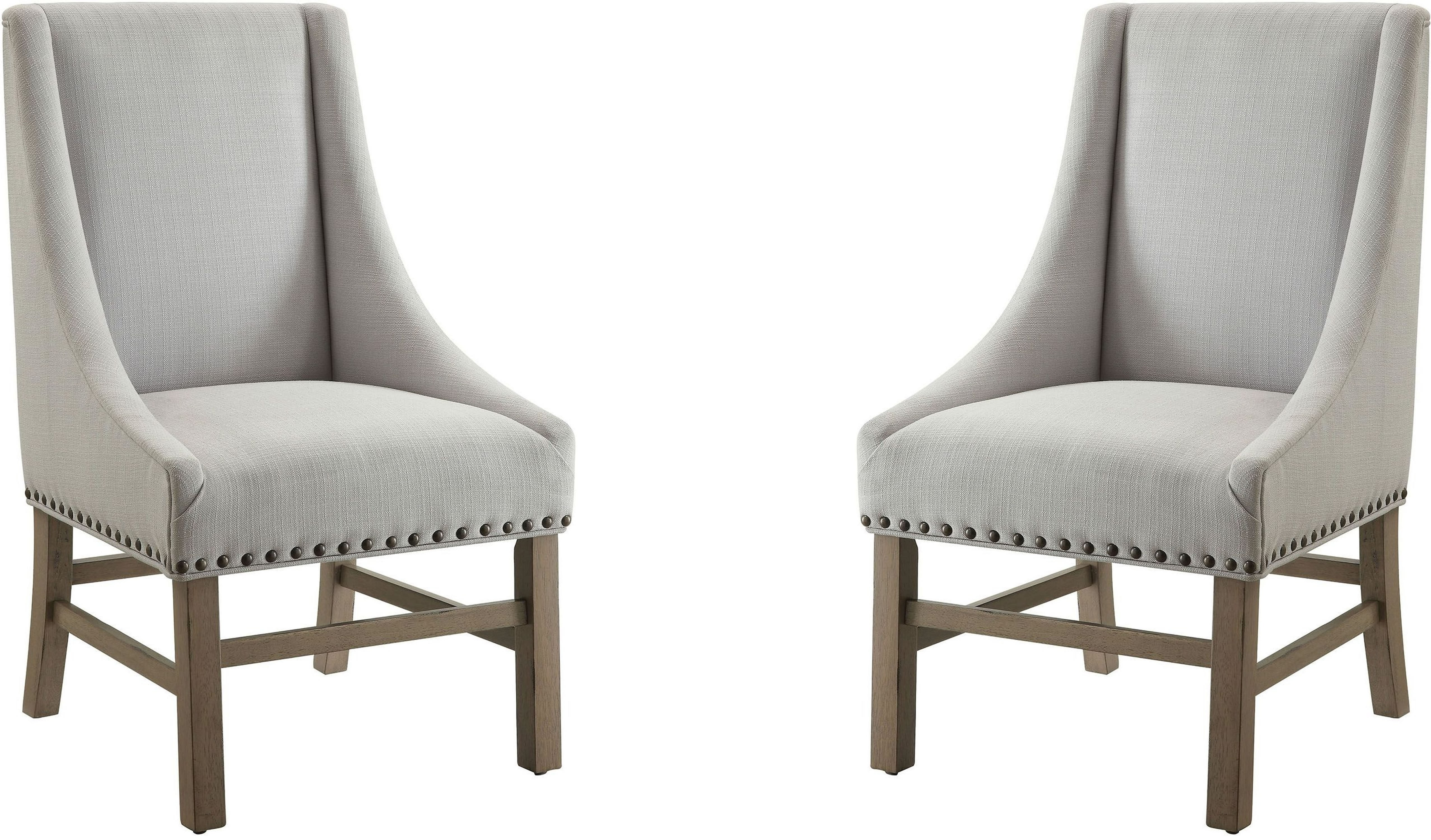 Grey Side Chair Florence Light Grey Fabric Side Chair By Donny Osmond Set