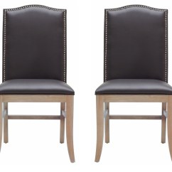Gray Dining Chair Fire Pit Table And Chairs Costco Maison Leather Set Of 2 From Sunpan