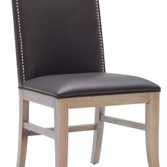 Gray Dining Chair Summer Infant Classic Comfort Wood High Maison Leather Set Of 2 From Sunpan