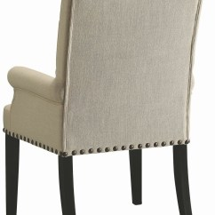 Cream Upholstered Dining Chairs Plywood Chair Parkins Arm 190163 Coaster Furniture