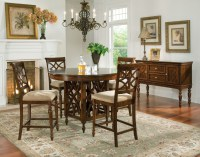 Woodmont Brown Cherry Round Counter Height Dining Room Set ...