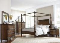 Verlyn Cherry Canopy Bedroom Set from Homelegance ...