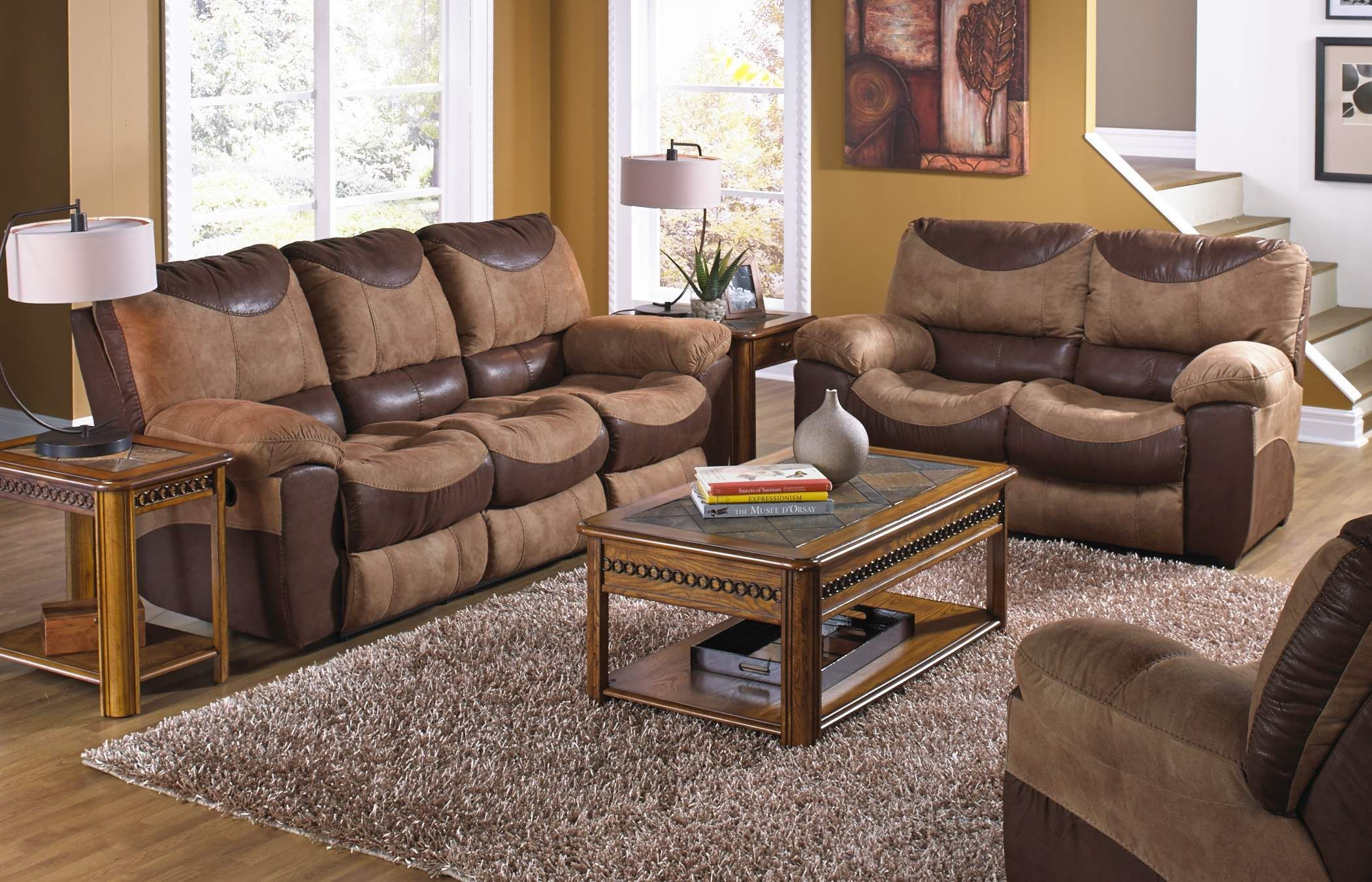 power reclining sofa made in usa behind console table diy portman saddle chocolate from