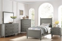 Aviana Grey Youth Poster Bedroom Set from Homelegance ...