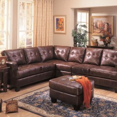 8 Piece Leather Sectional Sofa Cozy Set Samuel 3 Brown From Coaster