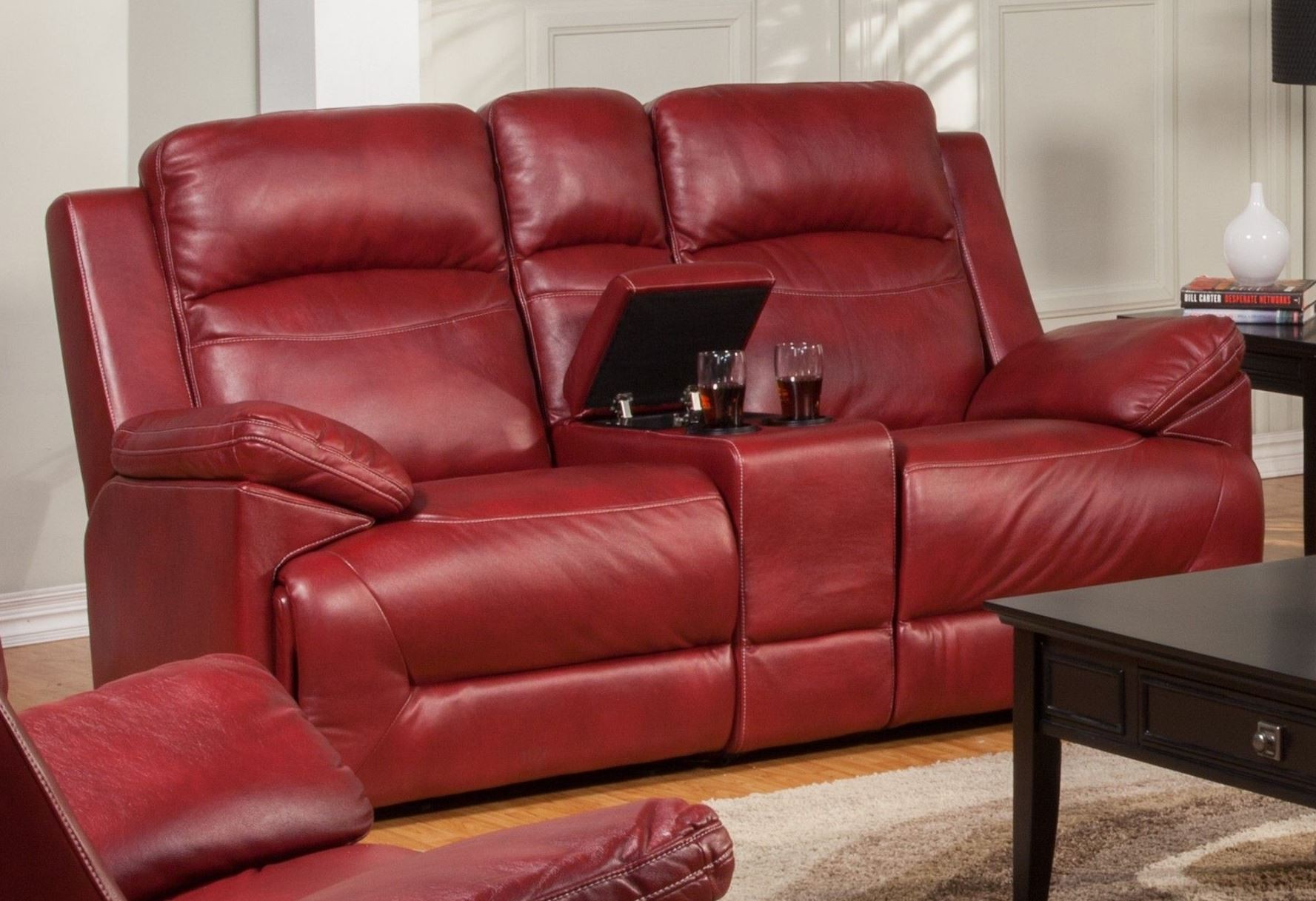 glider sofas best cheapest sofa beds cortez red dual reclining loveseat with console