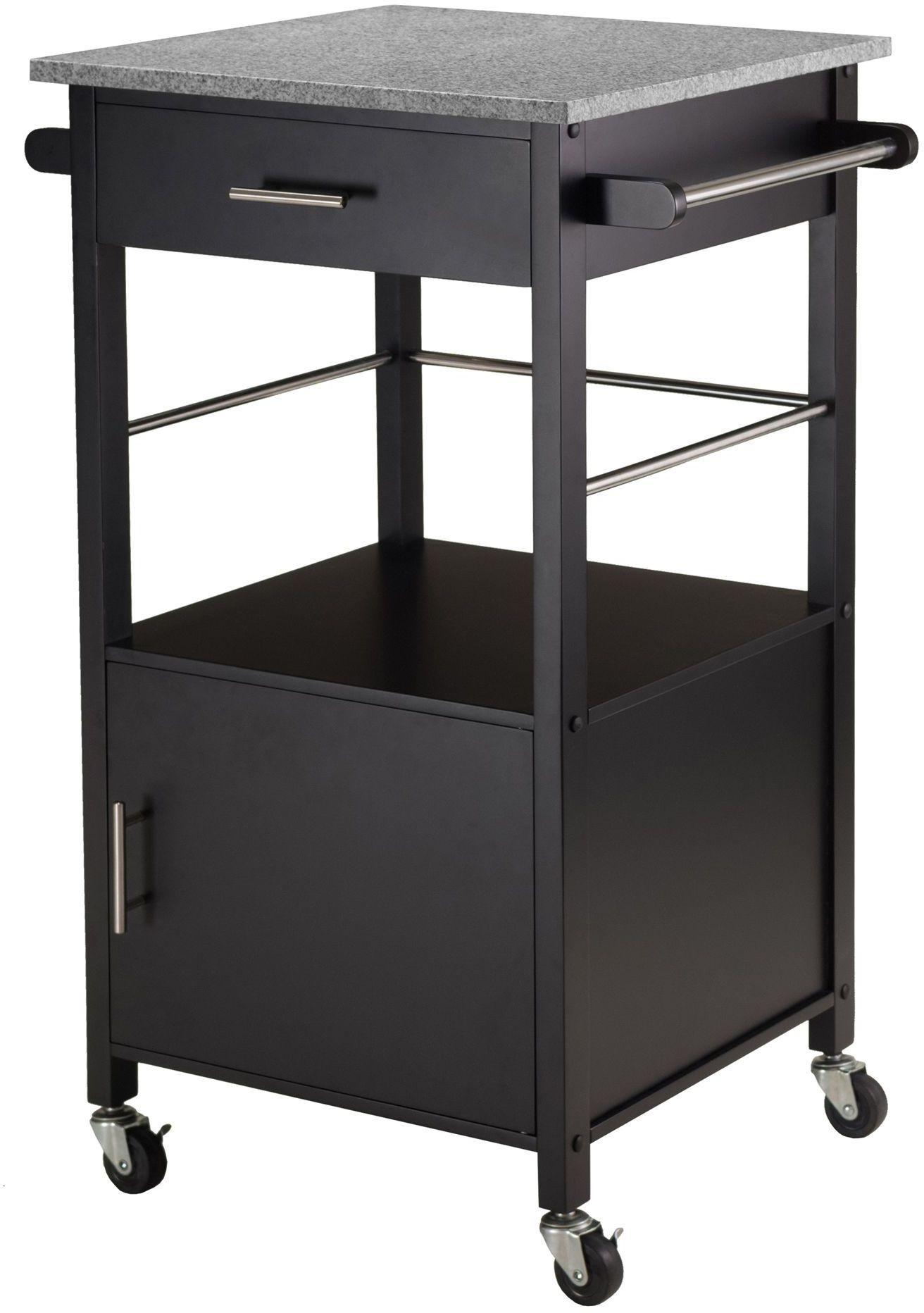 marble top kitchen cart cabinet door hardware davenport granite black from winsomewood