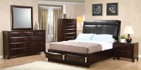 Phoenix Upholstered Storage Bedroom Set from Coaster ...
