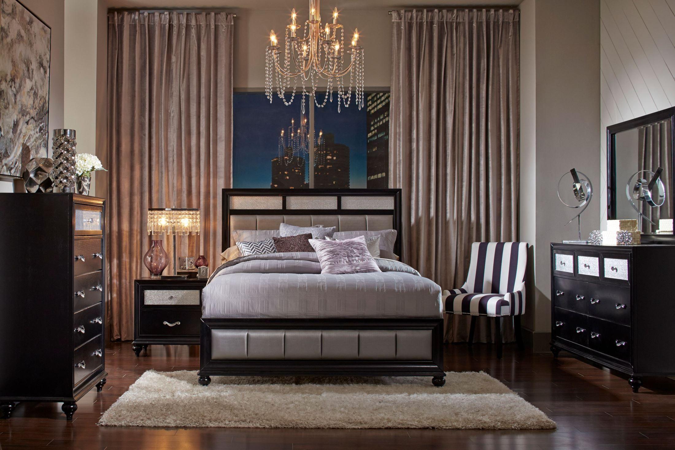 Barzini Black Platform Bedroom Set 200891Q Coaster Furniture