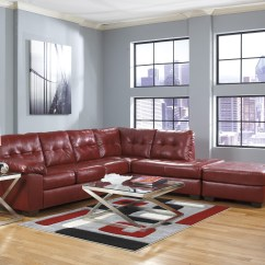 Right Arm Facing Sofa Left Chaise Bobs Furniture Maggie Review Alliston Durablend Salsa Sectional From ...