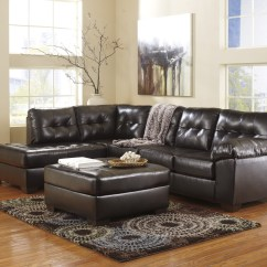 Ashley Furniture Durablend Sleeper Sofa Com Alliston Chocolate Left Arm Facing Sectional