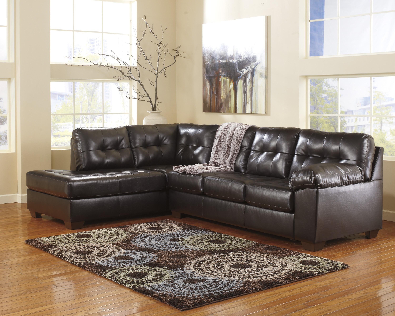 sofa sectional ashley durablend circa sleeper alliston chocolate left arm facing