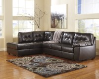 Alliston DuraBlend Chocolate Left Arm Facing Sectional ...