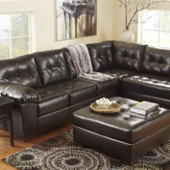Right Arm Facing Sofa Left Chaise Contemporary Lounge Alliston Durablend Chocolate Sectional ...