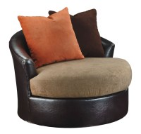 Armant Mocha Swivel Accent Chair from Ashley (2020244 ...