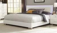 Felicity White King Platform Bed from Coaster (203500KE ...