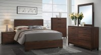 Edmonton Rustic Tobacco Platform Bedroom Set, 204351Q ...