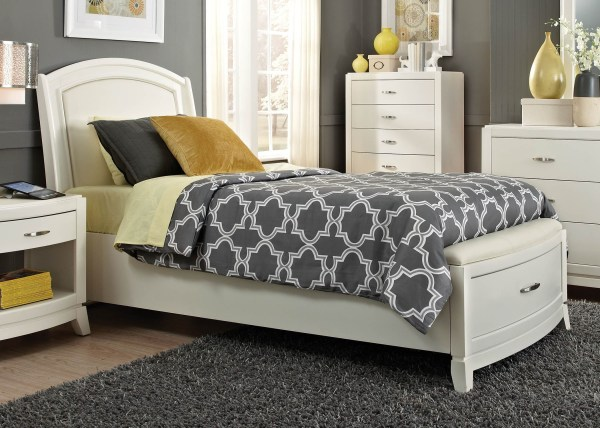 Avalon Ii Full Leather Storage Bed Liberty Coleman