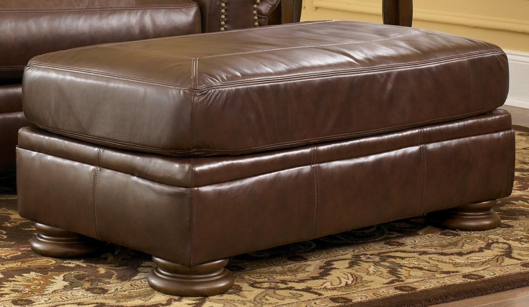 ashley furniture palmer sofa cream leather chair walnut sectional 2050067