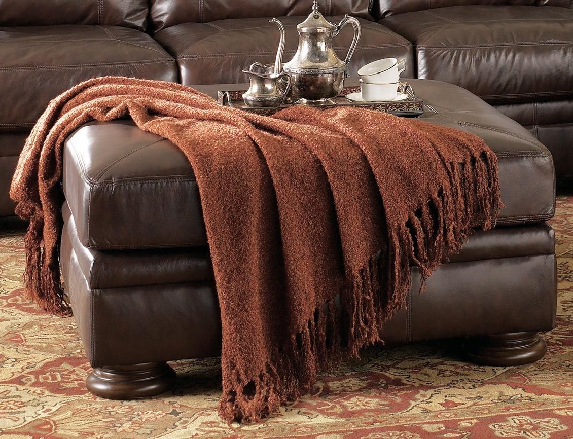 ashley furniture palmer sofa black leather and red fabric walnut oversized ottoman 2050008