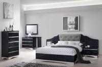 Alessandro Glossy Black Platform Bedroom Set, 205021Q ...