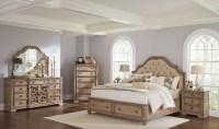 Ilana Antique Linen Panel Storage Bedroom Set from Coaster ...