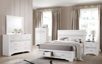 Miranda White Storage Platform Bedroom Set from Coaster ...
