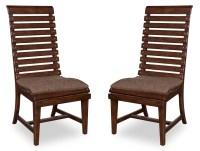 Whiskey Barrel Oak Slat Back Side Chair Set of 2 from ART ...