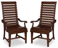 Whiskey Barrel Oak Slat-Back Arm Chair Set of 2 from ART ...