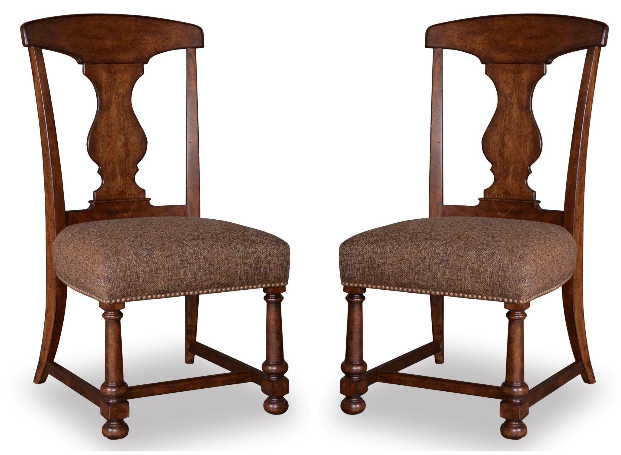 barrel dining chairs set of 2 single couch chair cover whiskey oak splat back side from art