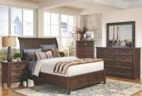 Ives Rustic Storage Platform Bedroom Set, 205250Q, Coaster