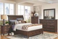 Ives Rustic Storage Platform Bedroom Set, 205250Q, Coaster ...