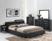 Manjot Black King Hidden Storage Platform Bed from Acme ...